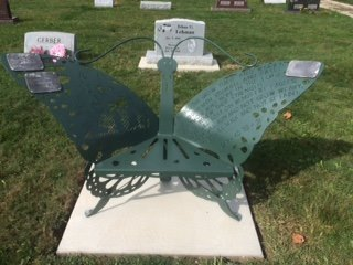 Custom memorial marker Butterfly Chair