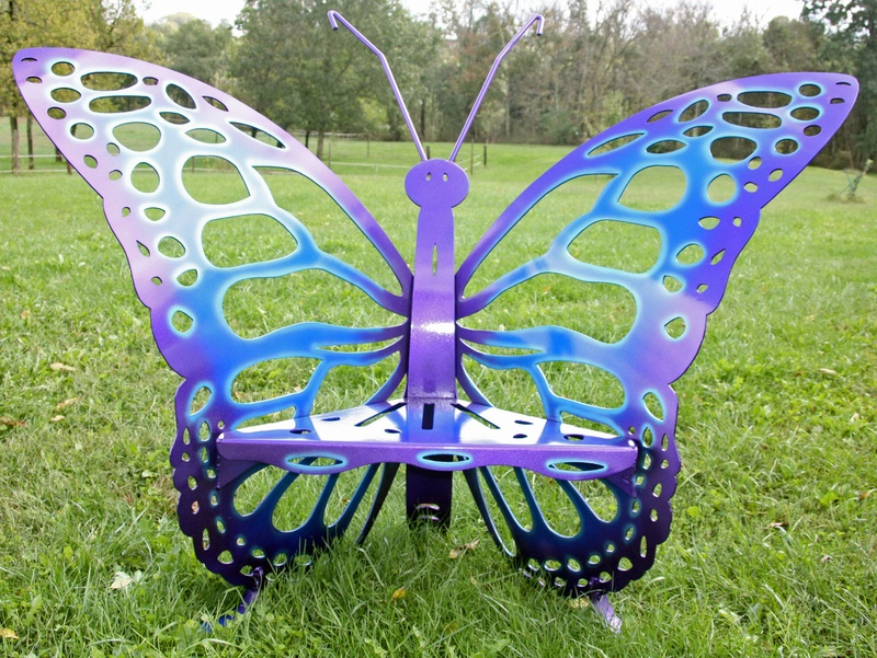 Cool Tone Butterfly Throne Chair Phoenix Creative Metal Art 859 866 8607