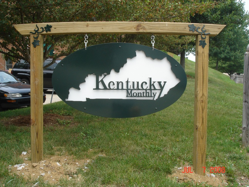 Custom KY Monthly Metal Sign