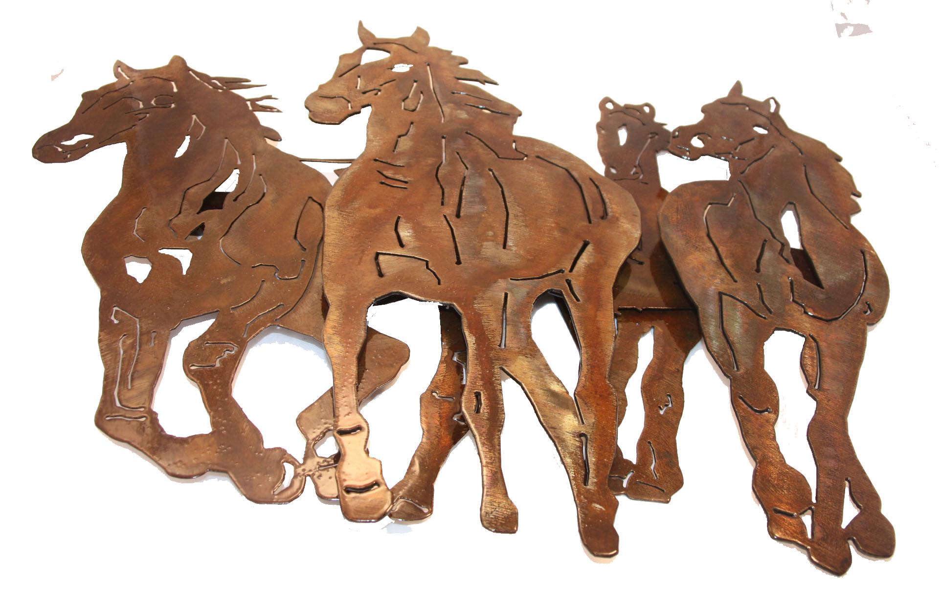 4 horse stampede