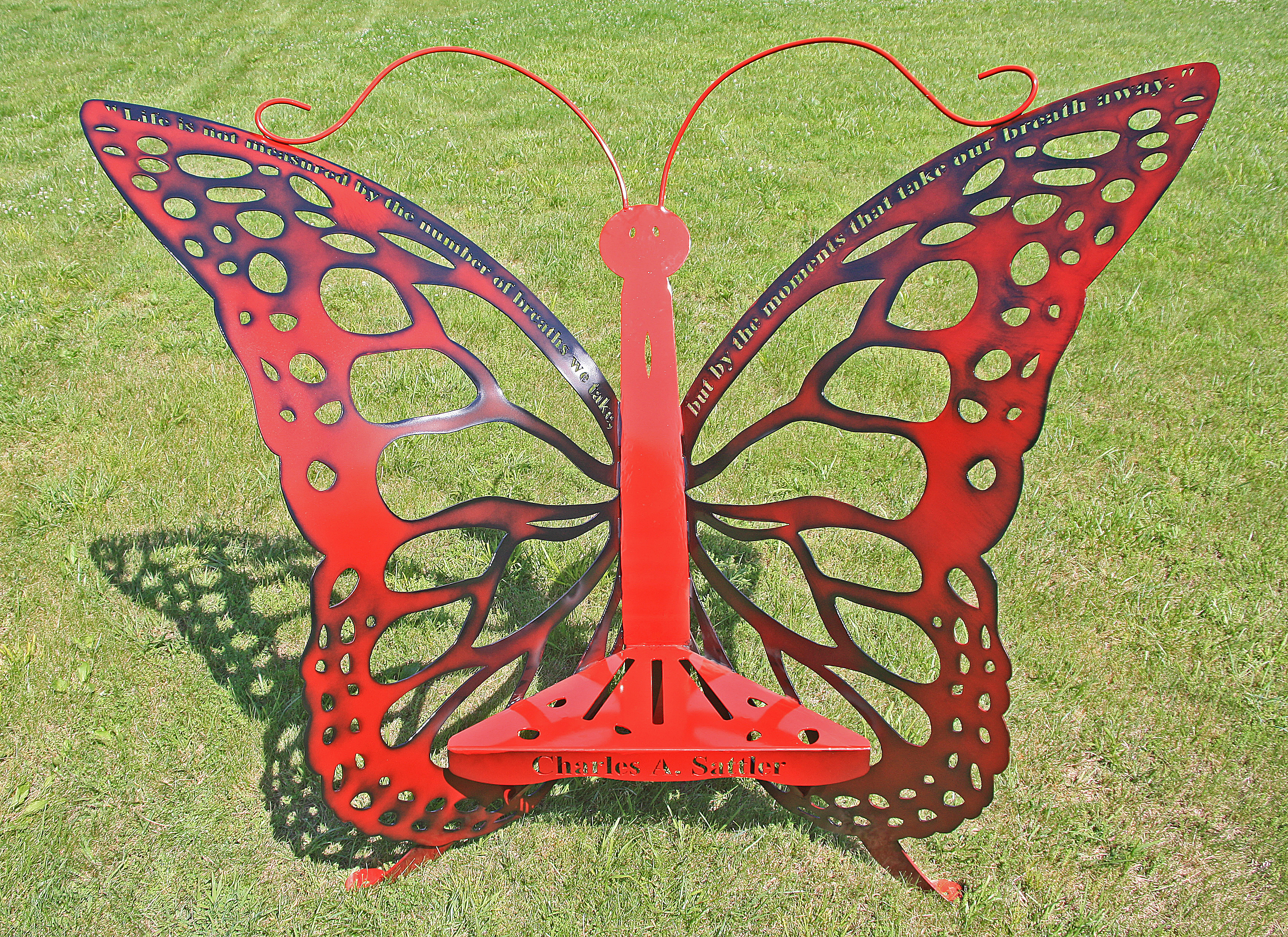 Custom Memorial Butterfly Thorne