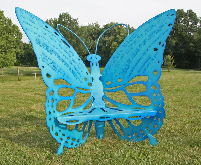 Custom Memorial Butterfly Chair
