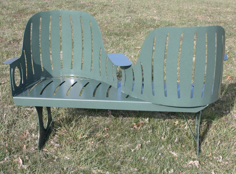 Metal Courting Bench