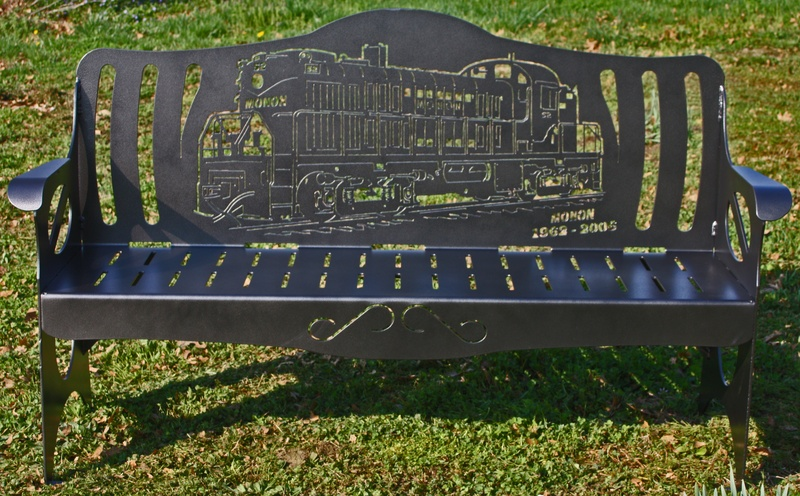 Custom Monon Train Bench