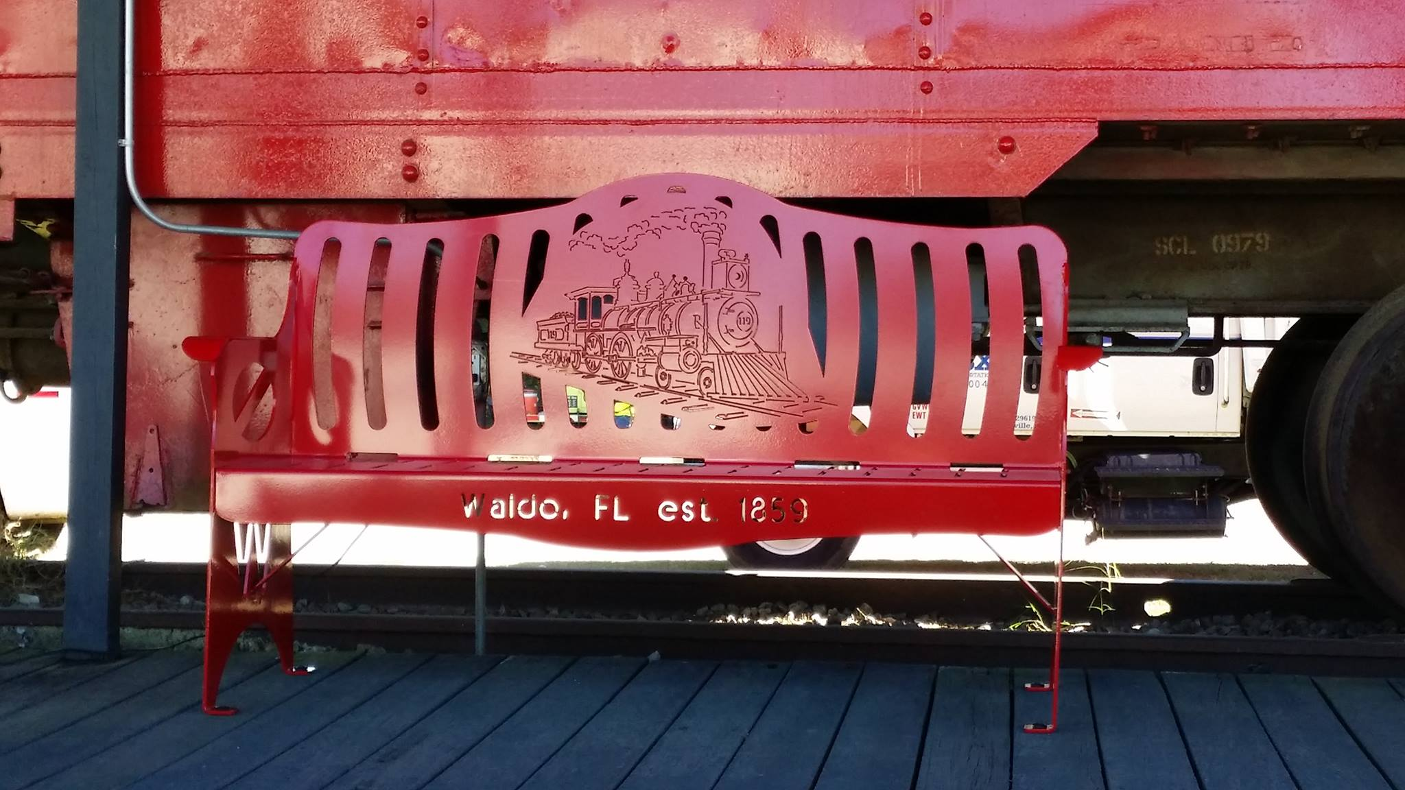Waldo Florida Train Bench
